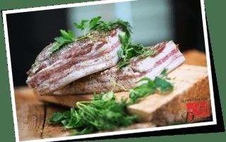 Свиная соленая грудинка — очень быстрая и вкусная закуска